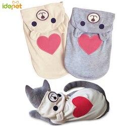 Gato bonito roupas moda primavera gato casaco com capuz roupas para pequenos gatos roupa colete coelho animais de estimação roupas 1a20