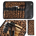 12 PCS Makeup Brushes Beauty Cosmetics Set of Tools For Facel Make Up With Leopard Bag Portable Foundation Contour Brush Kit