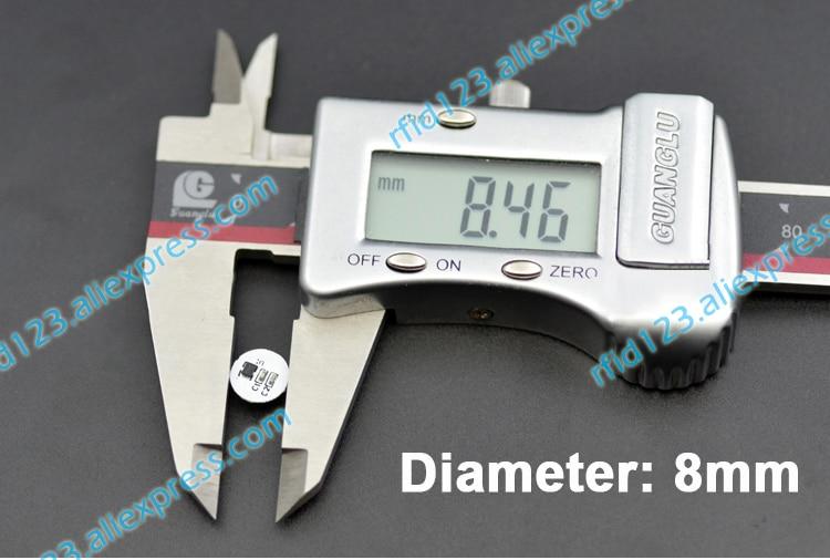 Mini Size 8mm Diameter NFC Sticker Mini NFC SIC43N1F 888 Bytes