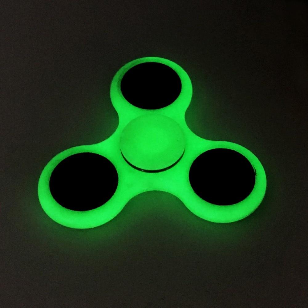 Fidget Spinner Stress Relief Toy Tri-Spinner Fidget glow in the dark Plastic EDC Anti Stress spiner Toys Hand Spinner Fidget Spi