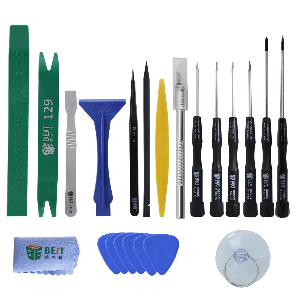 22pcs / set kit di strumenti professionali per telefoni cellulari Kit - Utensili manuali - Fotografia 5
