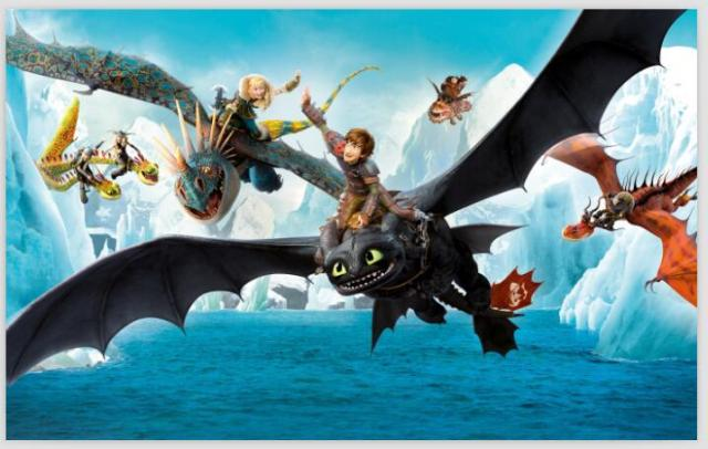 How To Train Your Dragon 2 Retro Classic Vintage Movie -4515