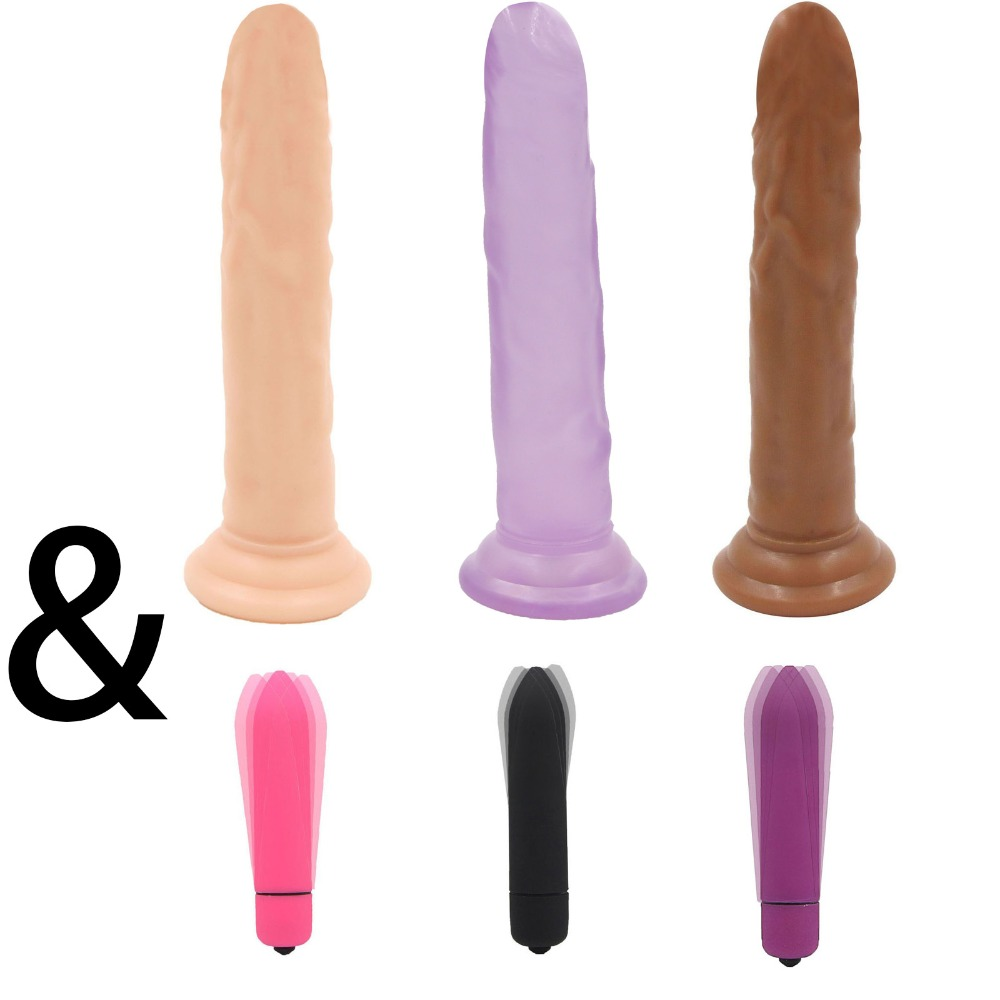 YEMA 7.28 inch Realistic Big Dildo&Mini Vibrators for Women Dildos With Strong Suction Cup Vibrator Adults Sex Toys For WomanYEMA 7.28 inch Realistic Big Dildo&Mini Vibrators for Women Dildos With Strong Suction Cup Vibrator Adults Sex Toys For Woman