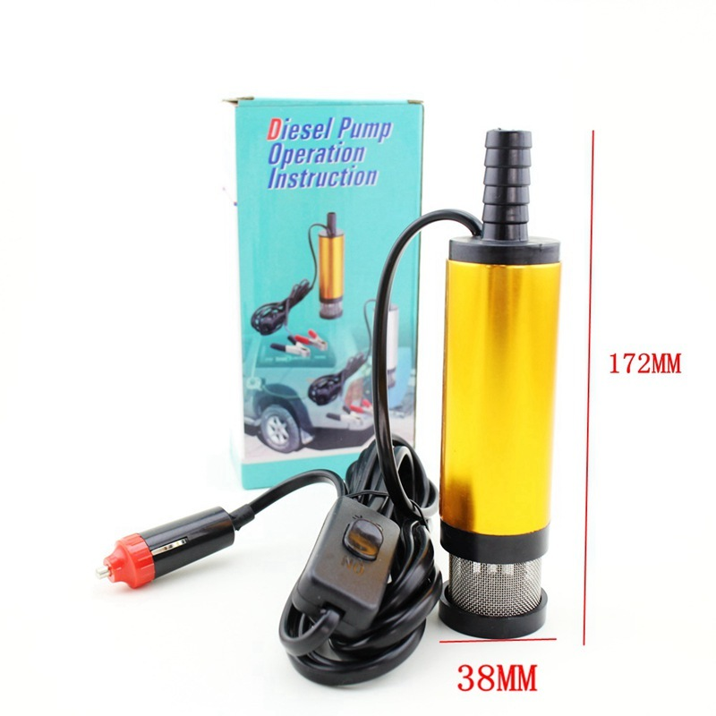 Mini Electric Water 12V 24V Diameter 38MM Wateoesel Oil Pump Aluminium Alloy Belt Filter Net   With Automobile Adapter Mini Electric Water 12V 24V Diameter 38MM Wateoesel Oil Pump Aluminium Alloy Belt Filter Net   With Automobile Adapter