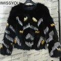 S-XXXL4XL5XL плюс размер 100% реальных природных silver fox red fox шуба женщины сращены короткие 2016 Зима нового способа прибытия пиджаки