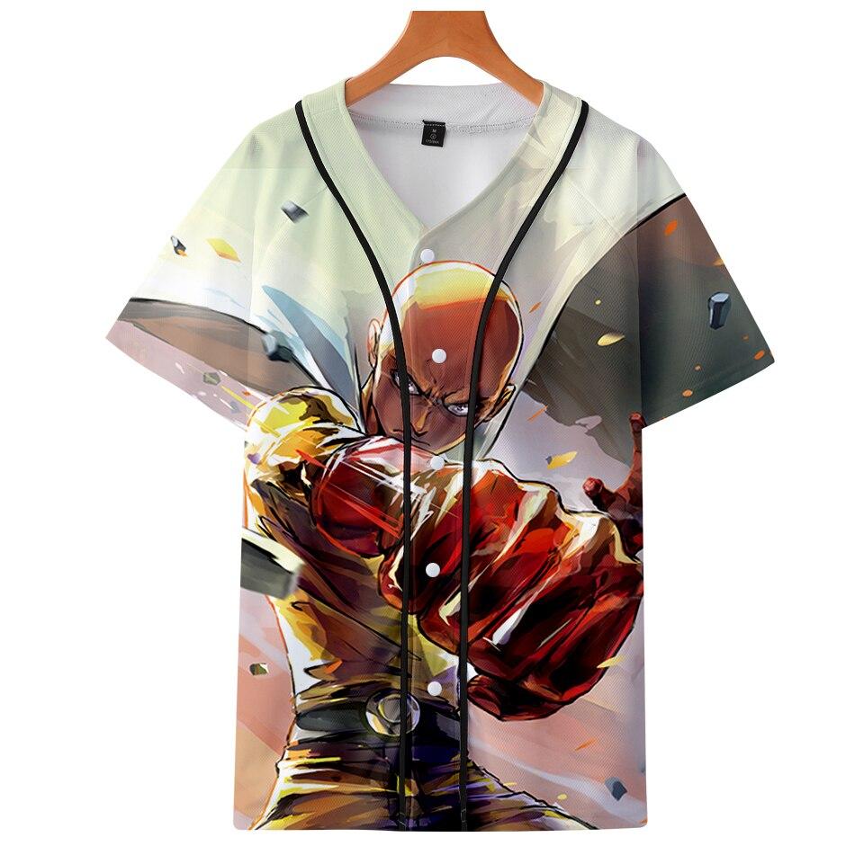 3d One Punch Man Harajuku T-shirts Women Clothes 2018 Short Sleeve Baseball Saitama Tshirt Kawaii Tops Plus Size Q1701-q1704 Women's Clothing Tops & Tees
