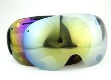 2016 magnet lenses professional ski goggles 3Layer len anti-fog big ski glasses skiing snowboarding men snow goggles black Frame