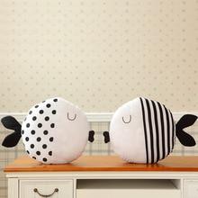 "Fish Shaped Cotton Baby Decorative Pillow Cushion Baby Sleeping Dolls Stuffed Toy Gift Teepee Tent Tipi Cushion 16"" Diameter"