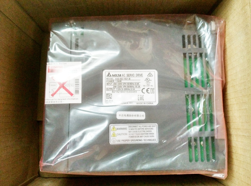 ASD-B2-1521-B Detla AC servo Drive 1ph 220V 1.5KW 8.3A New in box asd b2 0721 b detla ac servo drive 1ph 220v 750w 5 1a new in box