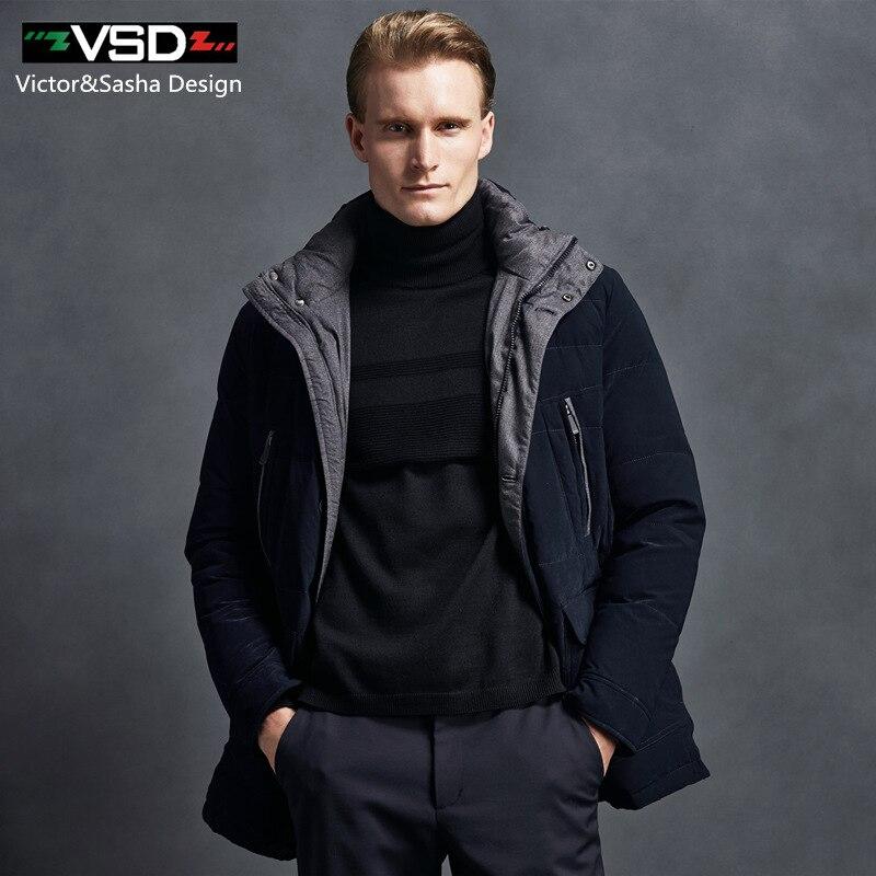 VSD Veste D hiver 2017 Nouvelle Marque Vêtements 90% Blanc Duvet de Canard  hommes de Veste Épaisse Chaud Manteau À Capuchon Col Parkas Vente Chaude  TC8816 ... 0d818a105851