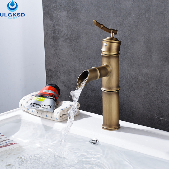 Ulgksd Wholesale and Retail Waterfall Bathroom Faucet Hot and Cold ...