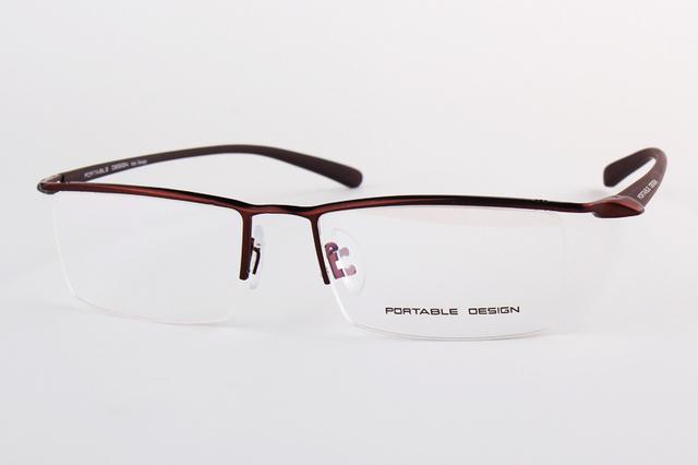 Diseño simple titanium de la aleación de gafas masculinas gafas de montura de gafas para los hombres