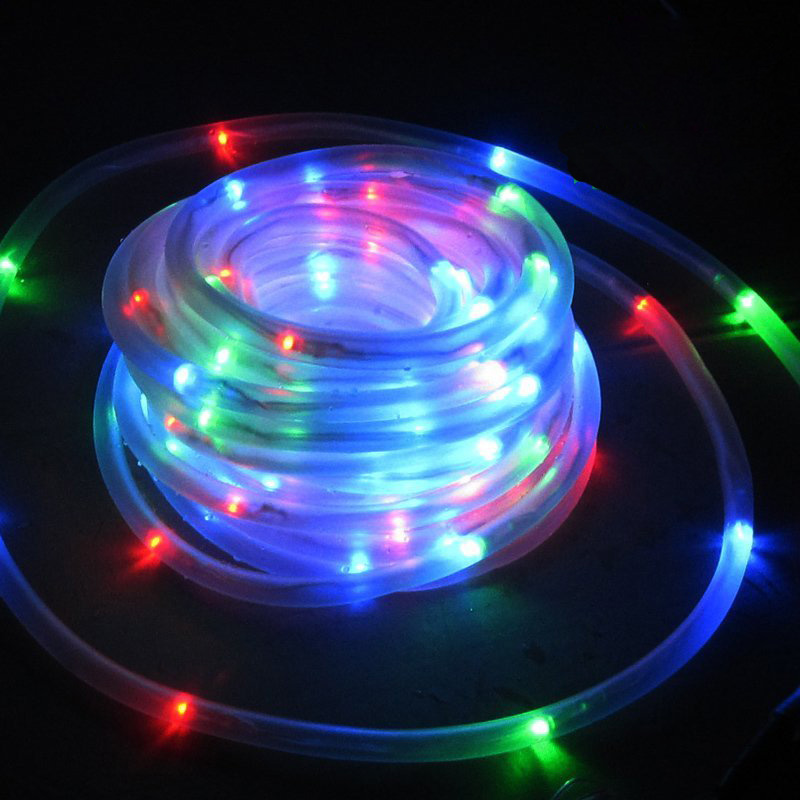 m cuerdas de luminarias led de luces de tubo led panel solar solar lmparas de jardn casa del rbol de navidad al aire libre