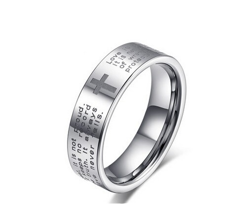 Unisex Casual Style Ring With Latin Text