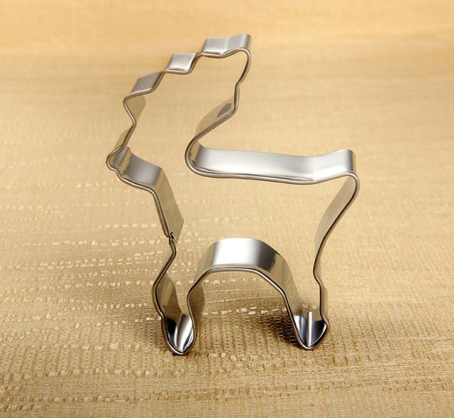 Christmas Cookie Cutter Deer Shaped Stainless Steel kitchen utensils