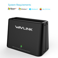 Wavlink Type C to SATA hdd enclosure 2.5 /3.5 USB 3.1 External Hard Drive Single Bay Docking Station HDD SSD Support UASP & 6TB