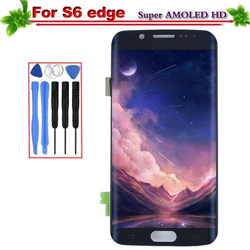 Remplacement pour Samsung Galaxy S6 Bord G925 G925F G925A Écran lcd Avec Écran Tactile Cadre Digitizer Assemblée Super Amoled