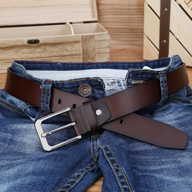 Catelles Manliga äkta läderrem Designer Bälten Män Hög kvalitet - Kläder tillbehör - Foto 1