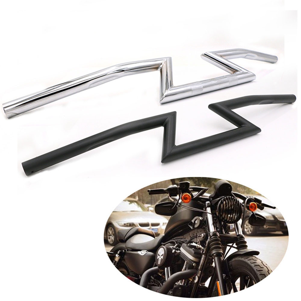 for Harley Sportster Cruiser XL 883 1200 Motorcycle Prince Chopper 7 8 inch22mm 1inch 25mm Handle Drag Bar Z Model Front Handlebar