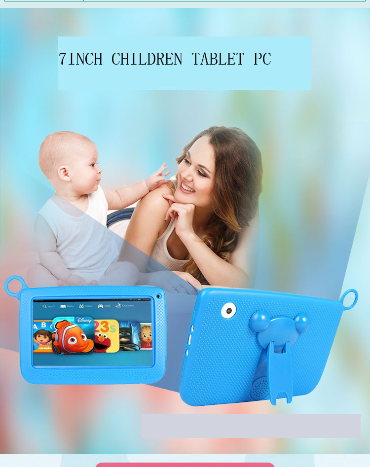 7 polegada crianças inteligente tablet computador máquina de aprendizagem proteção para os olhos tecnologia multifunções ipad