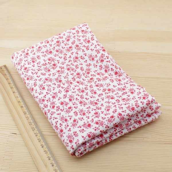 7pcs Red Cotton Patchwork Fabric Bundle For DIY Sewing Textiles Tilda Doll Cloth Quilting Tissue 50cmx50cm