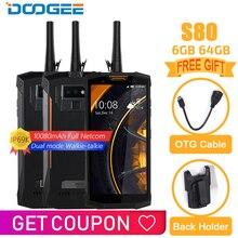 IP68/IP69K DOOGEE S80 мобильный телефон беспроводной зарядки NFC 10080 мАч 12V2A 5,99 FHD Helio P23 Восьмиядерный 6 ГБ 64 Гб 16,0 м мобильный телефон