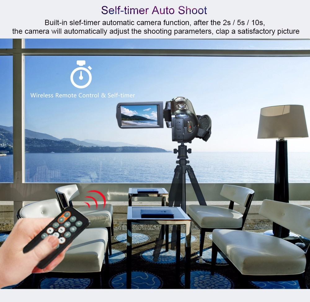 """Ordro Camcorder HDV-Z8 Plus 1080P FHD Digital Video Camera 3.0"""" LCD Touch Screen with Remote Control USB Port HDMI Output 11"""