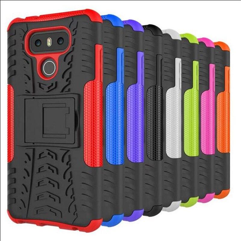 Для LG G6 Гибридный Kickstand Прочная Резиновая Броня Жесткий PC + TPU С Подставкой Функция Распространяется на Случаи Телефон case LG G6