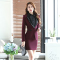 New Fashion Formal Professional Business Suits With Jackets And Skirt Ladies Blazers Set Long Sleeve Uniforms S-4XL Elegant Wine