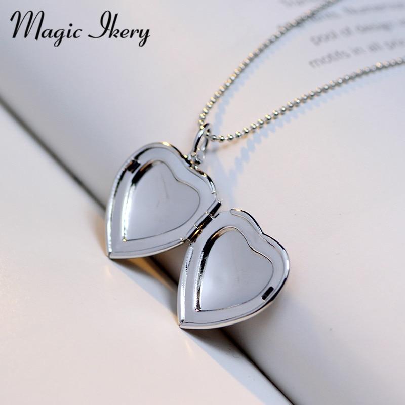 Magic Ikery Memori gambar terapung loket Kalung Rose Gold Warna Heart - Perhiasan fesyen - Foto 5