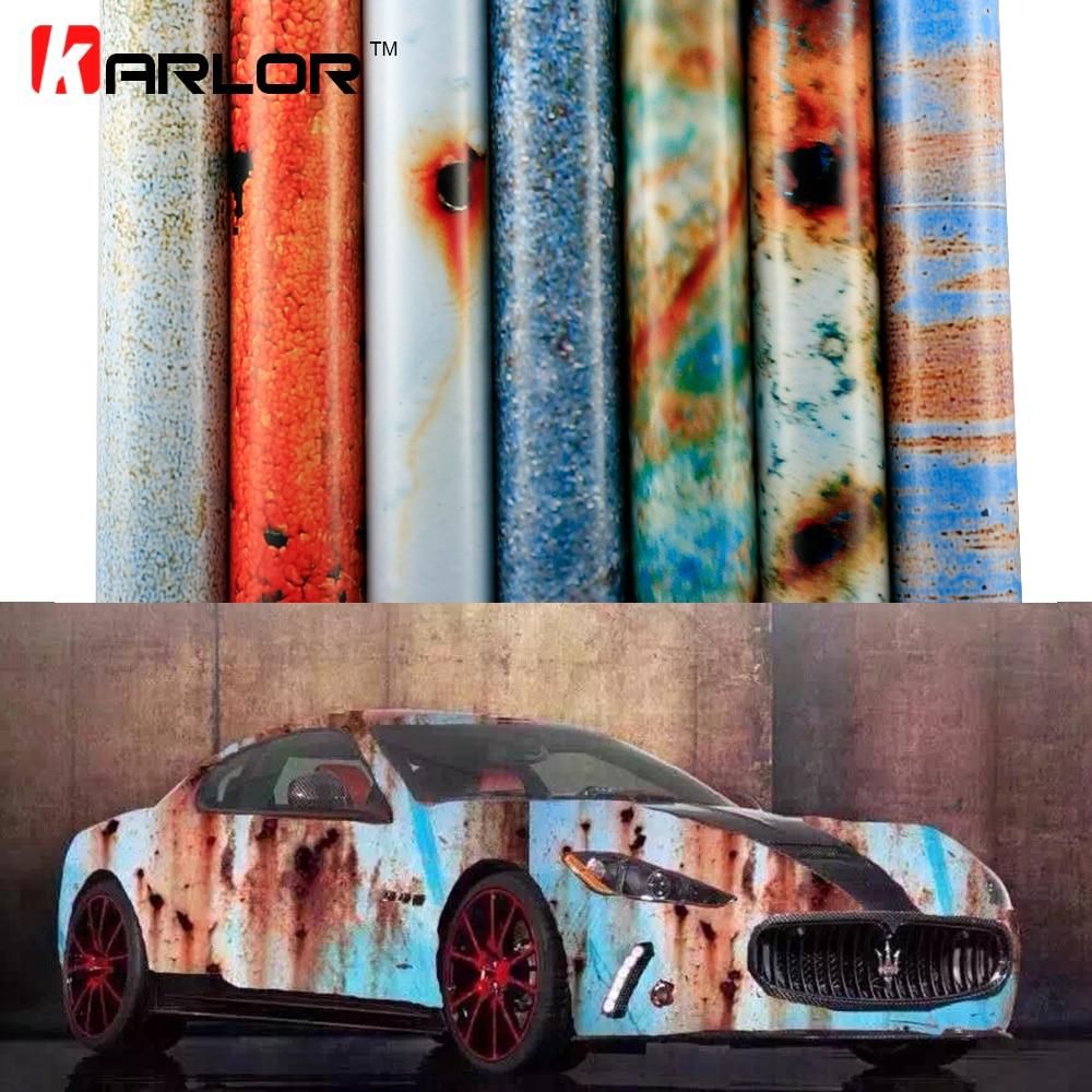 2 m/20 m * 152 cm Mat Rouille Car Wrap Film Vinyle Auto Emballage Automobiles Autocollants De Voiture Décalque couverture Bombe Rouille Vinyle Bulle D'air Libre