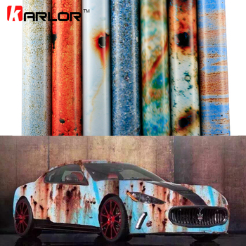 2m/20m*152cm Matte Rust Car Wrap Vinyl Film Auto Wrapping Automobiles Car Stickers Decal Cover Bomb Rust Vinyl Air Bubble Free 180sx led ヘッド ライト