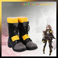 Anime! Girls Frontline ump45 Cosplay Shoes Costume Accessories Props Leather Boots For Unisex Free Shipping