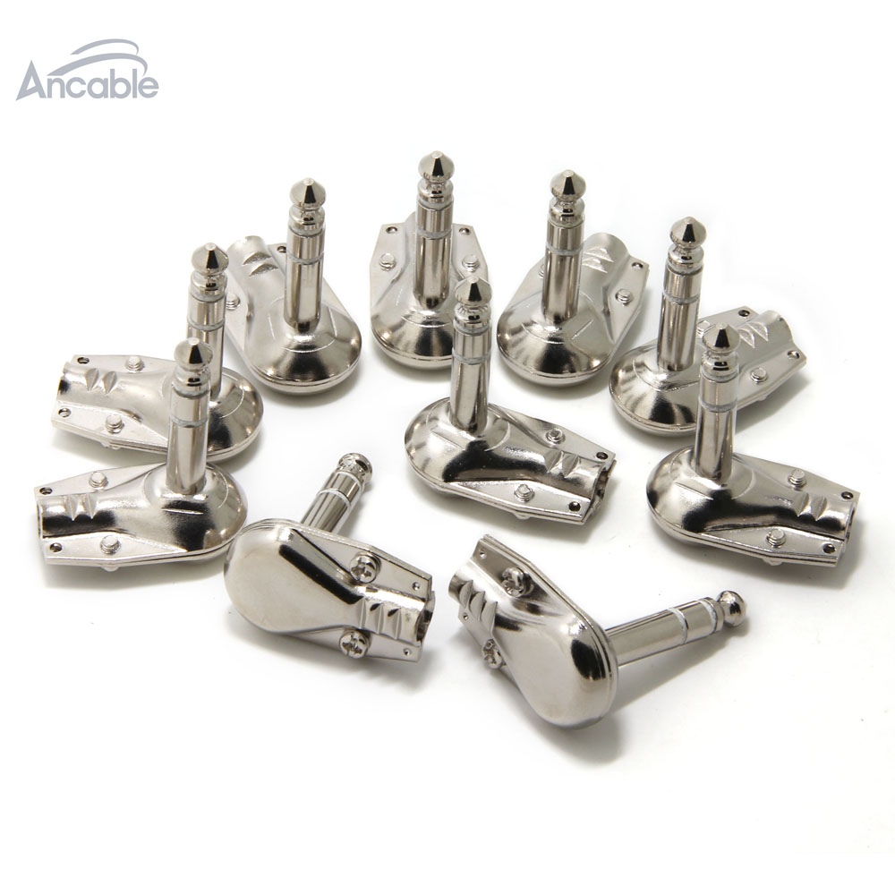 100Pk 1/4 Right Angle Plug TRS Stereo Heavy Duty Flat Low Profile Pancake Style for Guitar, Instrument, Speaker/Micro Cable100Pk 1/4 Right Angle Plug TRS Stereo Heavy Duty Flat Low Profile Pancake Style for Guitar, Instrument, Speaker/Micro Cable