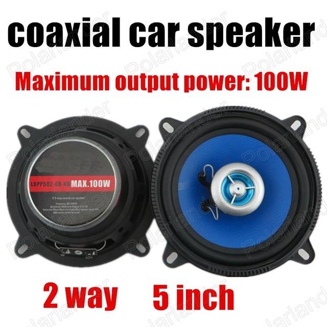 Un par de tapa de la manera real Cuerno de audio del coche de altavoces del automóvil coaxial altavoces estéreo de altavoces de 2 vías 2x100 W para todos los coches