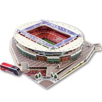Classic Jigsaw Models United Kingdom Emirates Arsenal Club RU Competition Football Game Stadiums DIY Brick Toys Scale Sets Paper