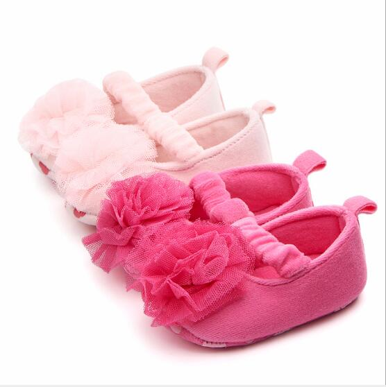 Lovely Flower Baby Shoes First Walkers Infants Girls Soft Sole Bebe Shoes