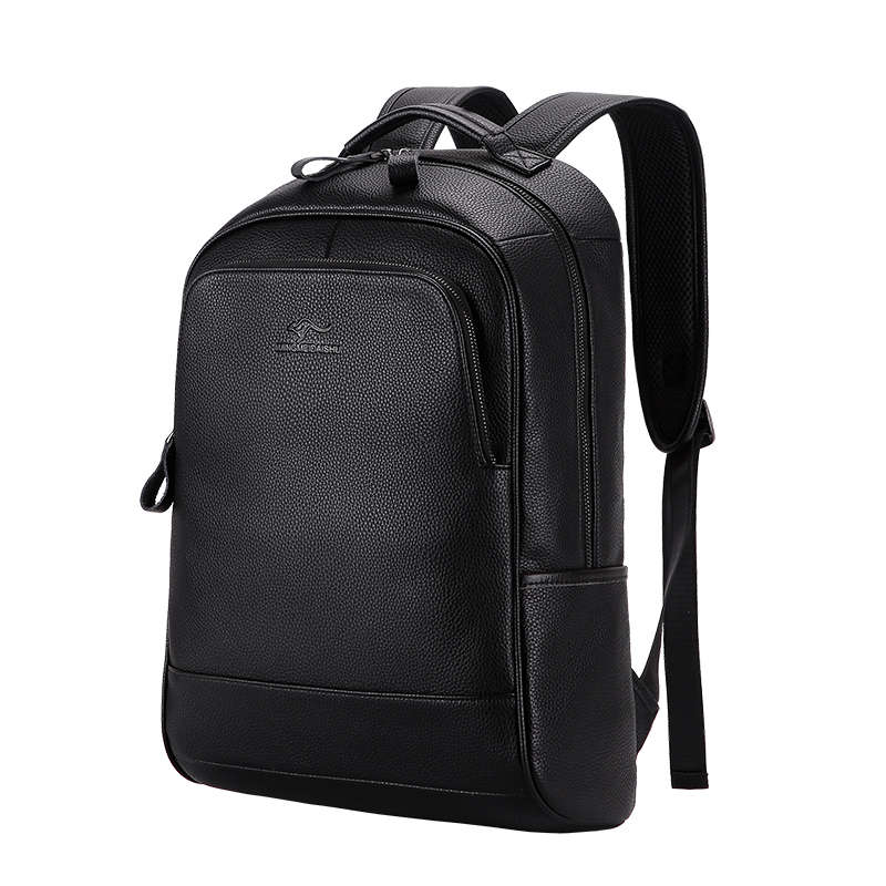 2018 New Brand 100% Genuine Leather Men Backpacks Fashion Real Natural Leather Student Backpack Boy Luxury Computer Laptop Bag