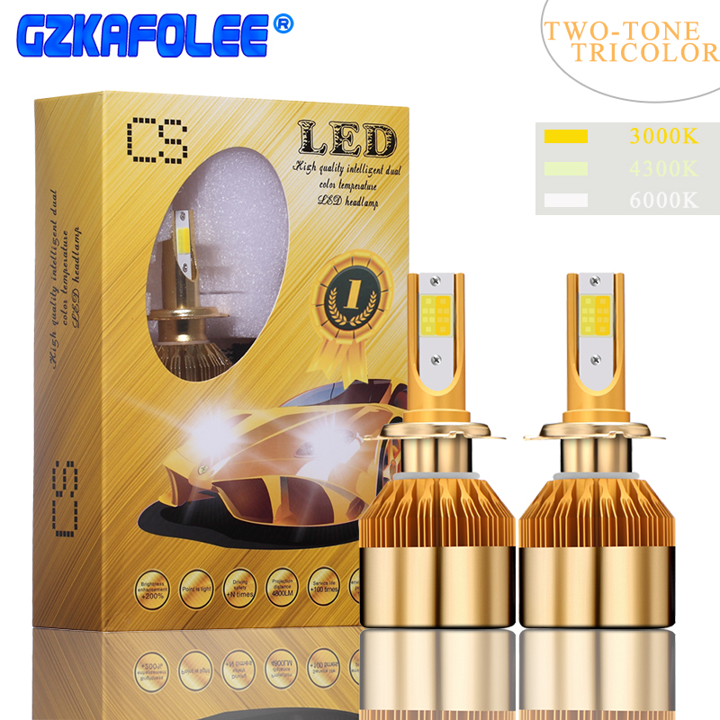 Car Lights Automobiles & Motorcycles Delicious 36w Cob Led H7 H1 9006 H8 H9 H11 H3 H4 9012 Cs 880 881 9005 9003 3000k/4300k/6000k Car Headlight Bulb 12v 24v 4800lm