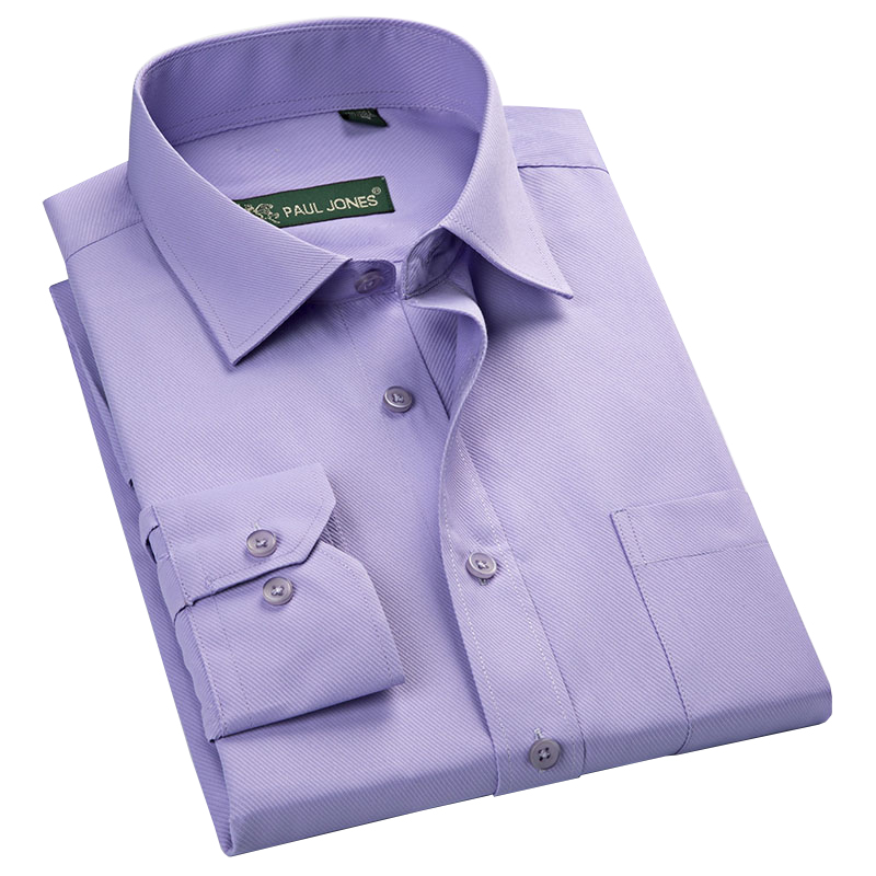 2016 fall mens light purple long sleeve regular fit solid for Men s regular fit shirts