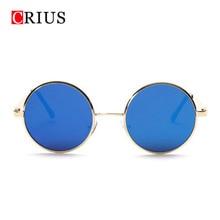 T Marca CRIUS nuevas mujeres gafas de sol redondas gafas de sol de Diseño de metal de la vendimia gafas de sol Retro gafas de sol mujer f12