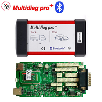 DHL Freeship +Real 2016 R0/2015R3 !! Single Board NEC Relay Multidiag Pro+ with Bluetooth OBD2 Diagnostic Tool For Cars / Trucks