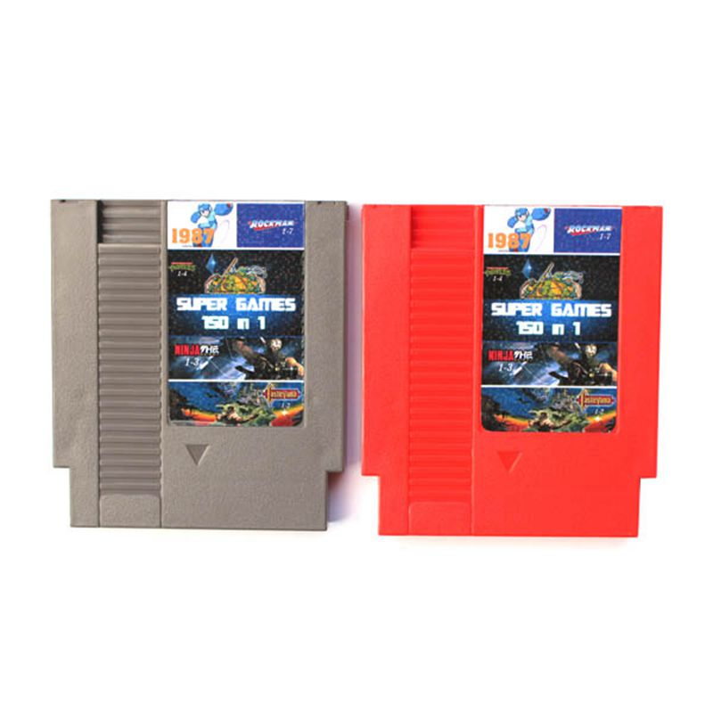 2017 High quality 72 Pins 8 bit Game Cartridge 150 in 1 with Rockman 1 2 3 4 5 6 NINJA TURTLES Contra Kirby's Adventure