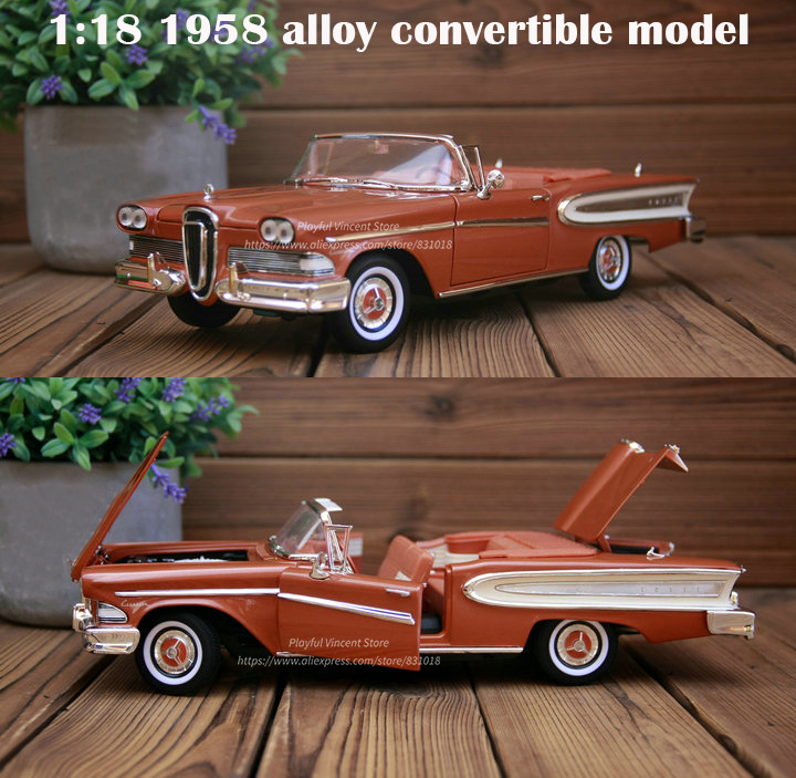 fine  1:18 1958 alloy convertible model  Doors can be opened  Collection modelfine  1:18 1958 alloy convertible model  Doors can be opened  Collection model