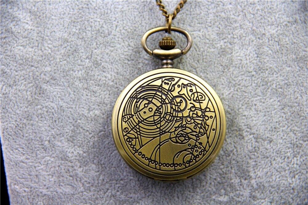 ZRM Fashion Vintage TARDIS Necklace Doctor Who Pocket Watche