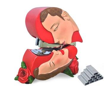 Giftgarden Heart shape Table top Decor Resin Stapler Gifts for lover , Staples Included