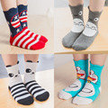 2016 Newest Cartoon Kids Socks Cute Fox Cat Dog Girls Socks Vintage Warm Socks for Children