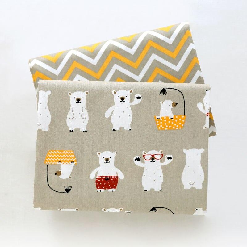 С рисунком из мультфильма детские твиловая, хлопковая ткань, Лоскутная Ткань, DIY лоскутного шитья Fat четверти Материал для новорожденных и детей