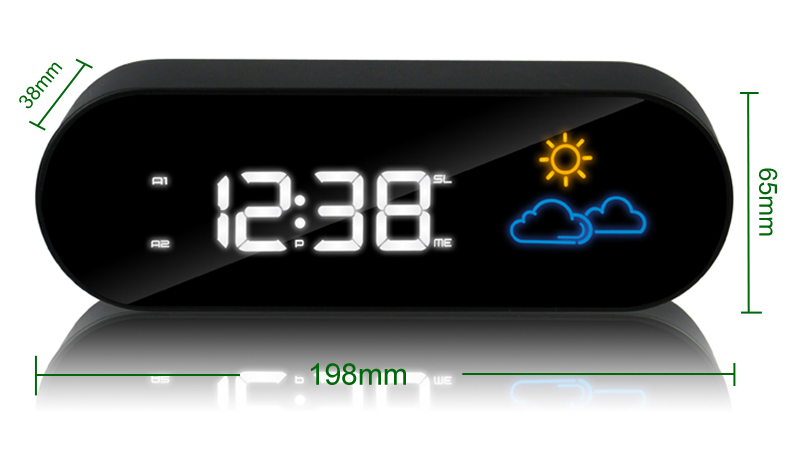 Color Weather Forecast Radio Desktop Alarm Clock Snooze Mute ...