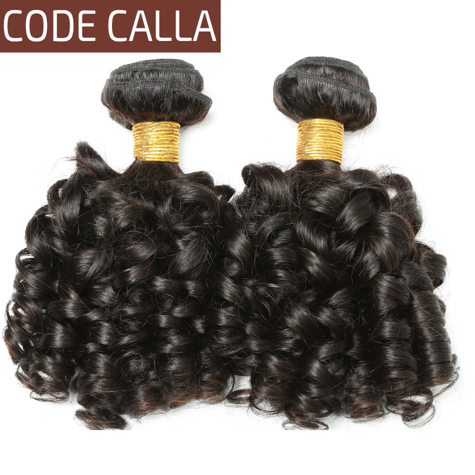 Code Calla Brazilian 100% Unprocessed Raw Virgin Human Hair Extensions Weave Bundles Loose Bouncy Curly For Women Free Shipping